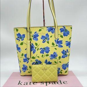 Kate Spade Jana Tea Garden Tote & Bifold Wallet